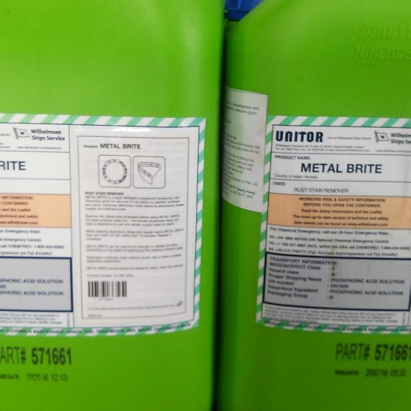 Metal Brite Rust Stain Remover 25L. PN 651 571661