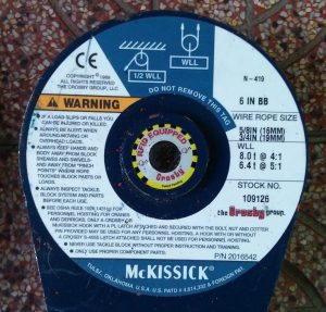 Crosby 419 6 BB Snatch Block #109126