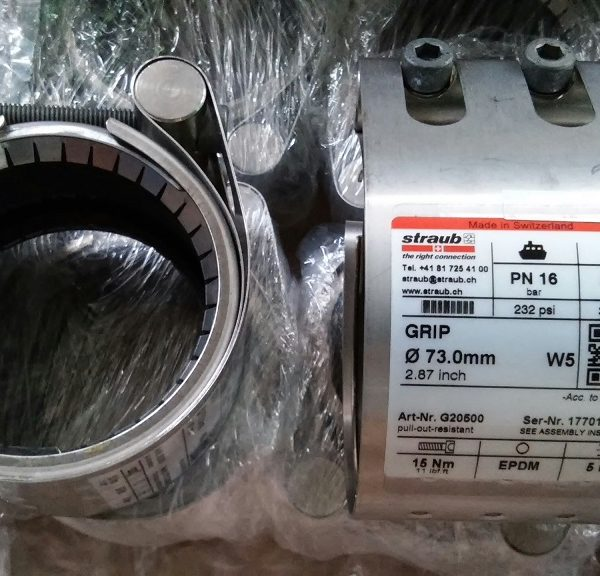 G20500 Straub Metal Grip, OD 73.0 mm, Sealing Sleeve EPDM, Materials SS304