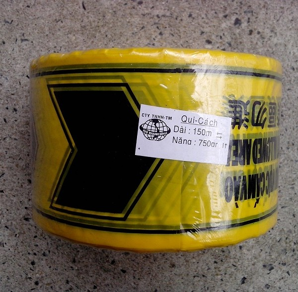 Barrier Tape, Black & Yellow