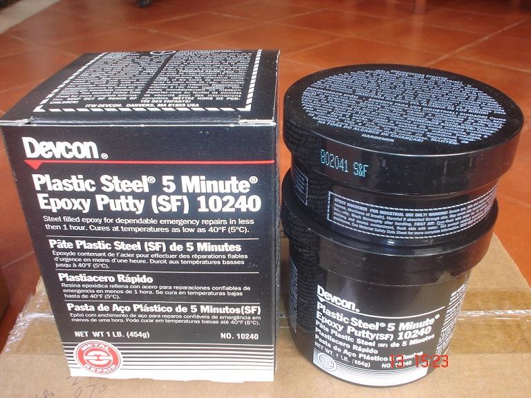 Devcon Plastic Steel 5 Minute Epoxy Putty (SF) 10240, 1Lb  (454g