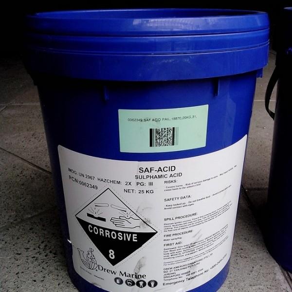 Copper Nuts And Bolts >> SAF-ACID Sulphamic Acid, 25Kg/Pail. Maker: Drew Marine – DELTA MATERIALS EQUIPMENT CO., LTD
